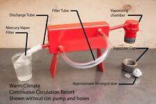 Mercury Retort - Large Capacity Continuous Cooling -WITH 110V PUMP AND HOSES