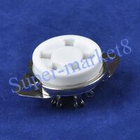 1PC 5Pin Silver Ceramic Tube Sockets for 807 Valve Top hifi diy parts