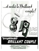 """Publicités Ancienne """" Appareil Photo Voigtländer couplé 1939  issue de magazine"""