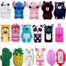 Disney 3D Cartoon Soft Silicone Gel Rubber Cover Case For Samsung/LG/iPhone/Moto