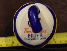 "Rare Tim Hortons 2005 Edmonton Brier Foam Curling Rock 3"" x 3"""