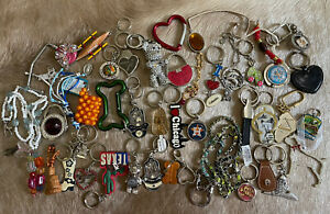 Huge Lot Keychains Tags Purse Holders States Cities Keychains Animal Keychains