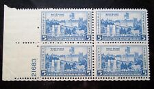 5 cent 1937 Scott 789 West Point US Military Acad 4 Stamp Plate Block MNG VF