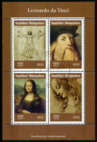Madagascar 2019 CTO Leonardo Da Vinci Mona Lisa 4v M/S Art Paintings Stamps