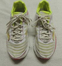 SAUCONY KINVARA 3 RUNNING SHOES WHITE/NEON YELLOW/RED WO'S SIZE 9 W EXCELLENT!!