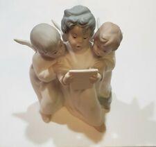 Lladro 3 Singing Angels Bisque Porcelain Figurine Matte Glaze #4542 No Box