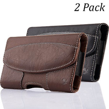 2 Pack Samsung Galaxy S10e s10E Leather Holster Pouch Case Belt Clip Loops