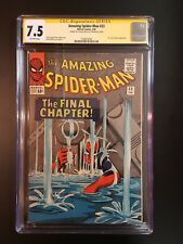 THE AMAZING SPIDER-MAN 33 CGC 7.5 SS STAN LEE APP DR.CURT CONNERS L@@K @ IT
