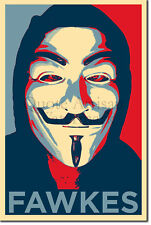Guy Fawkes Art Print 'Hope' - Photo Poster Gift - Treason Gunpowder Anonymous