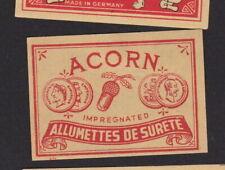 Ancienne étiquette  allumettes Allemagne BN104673 Belgique Gland