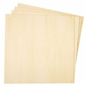 8 Pack Square Basswood Plywood Thin Sheets for Wood Burning, 8 Inches