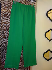 "LADIES ""Green Stretched Pants""  w/ Elastic Waist  Size Small"