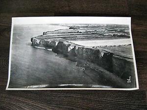 PHOTO ANCIENNE 1956 LAPIE LA POINTE DU HOC PERCEE CALVADOS VUE AERIENNE BON ETAT
