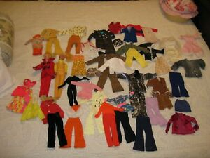 """TWO Vintage 1970 MEGO CORP 11 1/2"""" Barbie Clone Dolls + over 50 pcs of Clothing"""