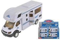 Motorhome White Camper Van Die Cast Kids Children Vehicle Toy New