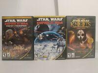 Star Wars PC Game Lot Of 3 Lucas Arts