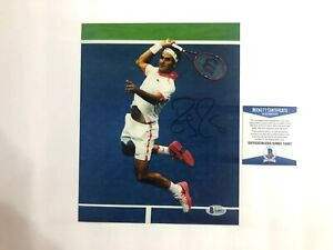 Roger Federer Rare! signed autographed tennis legend 8x10 photo Beckett BAS coa