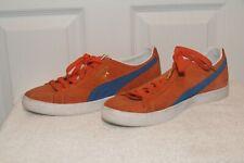 PUMA SUEDE Orange Basketball Shoe. Size 10.5