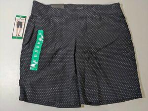 Hilary Radley Women's Bermuda Shorts Easy Comfort Fit Pull-On Navy White XLarge
