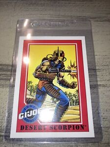 Vintage 1991 GI Joe Hasbro Impel Trading Card #130 Desert Scorpion