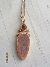 S.A.W. ARTISAN VERMEIL STERLING SILVER PENDANT WITH AMETHYST CABOCHON & DRUZY