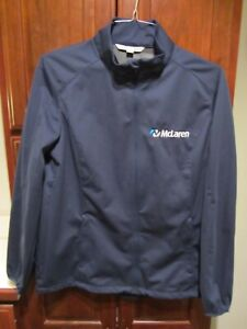 McLaren F1 Racing Ladies SIZE LARGE Light Weight Jacket Blue Navy NEW