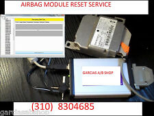 ALL BMW MERCEDES AUDI VW VOLVO JAGUAR LAND ROVER PORCHE AIRBAG   MODULE RESET