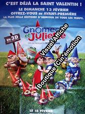 Affiche 120x160cm GNOMEO ET JULIETTE (2011) Kelly Asbury, Film d'animation NEUVE