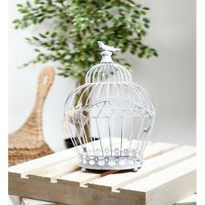 Large Crown Bird Cage Candle Holder Shabby Chic Ornament Vintage Antique Style