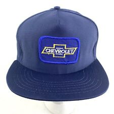 Chevrolet Bowtie Patch Men's Hat Snapback Blue Vtg USA 90's h15