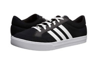Mens Adidas VS SET Black Canvas Athletic Sneaker Lifestyle Shoes AW3890, NEW