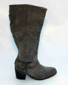 LADIES PHASE EIGHT 8 BROWN SUEDE ZIP  BOOTS SIZE 4 37 RRP £175 LIGHTLY WORN