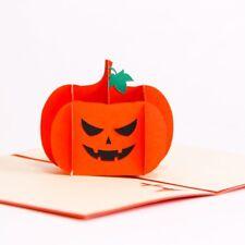 BOLUO Creative Handwork Halloween Gift Pumpkin Head Pop-up Card 3d Folding Card