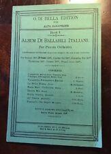Sheet Music For Alto SaxophoneBook 4 Album Di Billabili Italiani