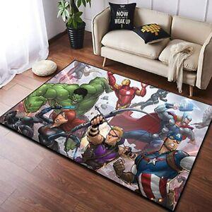 Avengers Rugs Non-Slip Area Rug Living Room Bedroom Floor Mat Flannel Carpet