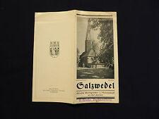 Reise-Faltprospekt Salzwedel die alte Markgrafen- u. Hansestadt a.d. Jeetze 1930