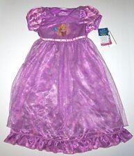 Nwt New Disney Princess Rapunzel Tangled Nightgown Pajamas Costume Purple Girl
