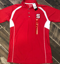 New NC State Wolfpack NCAA Champion Short Sleeve Polo Shirt Red Medium