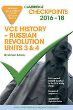 Cambridge Checkpoints VCE History - Russian Revolution units 3&4 2016-2018