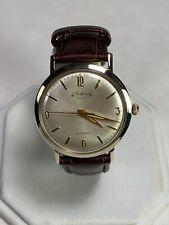 Vintage Men's Rhapsody Royale 14kt Yellow Gold 21 Jewel Watch Runs Smooth