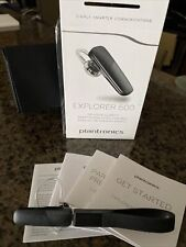 Plantronics Explorer 500 Wireless Black Bluetooth Headset with box and paperwork