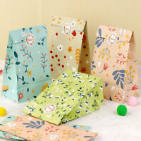 12xFlowers Paper Gift Bags Candy Bag Wedding Baby Shower Floral Party Favour Bag