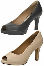 Clarks High Heel (3-4.5 in.) Peep Toes Shoes for Women