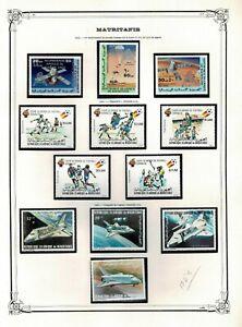 Sellos Mauritania 1960 a 1981 Mauritanie stamp independencias Africa (consultar)