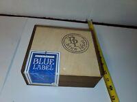 Sello De Garantía Blue Label Wood Cigar Box