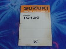 1971 Suzuki TC120 Parts Catalogue/ Catalog/ Repair Manual, NOS, Factory Original