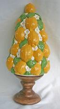 Vintage Lemon Topiary, Ceramic, 1968, Handpaint centerpiece Signed Dated