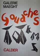 Calder Alexander affiche Lithographie Paris New-York art abstrait abstraction