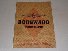 Betriebsanleitung Handbuch Borgward Hansa 1500