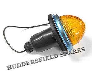 Front Early Amber Indicator Unit Complete for Classic Mini, NEW